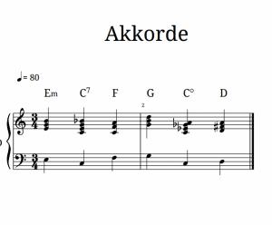 Akkorde üben – erster Schritt für freies Klavierspielen