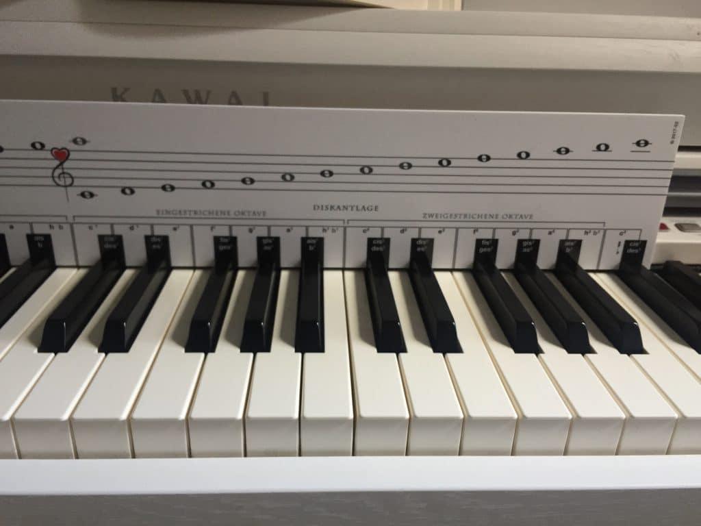 Noten lesen mit der Klaviatur
