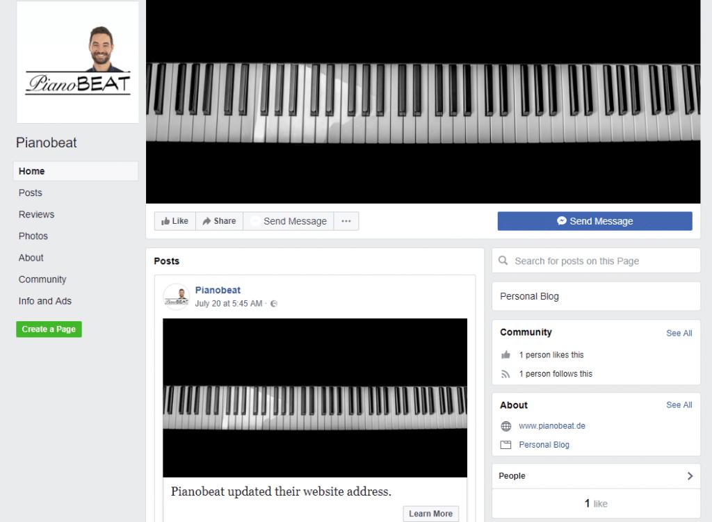 Pianobeat jetzt auf Facebook :-)
