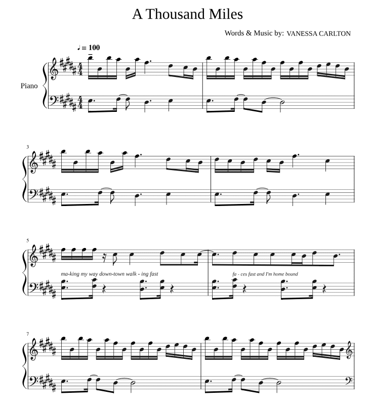 Die besten 10 Piano-Popsongs