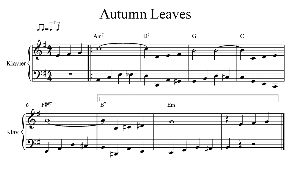 Autumn Leaves: Walking Bass