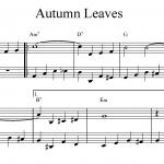 Autumn Leaves Walkign Bass Beispiel 1