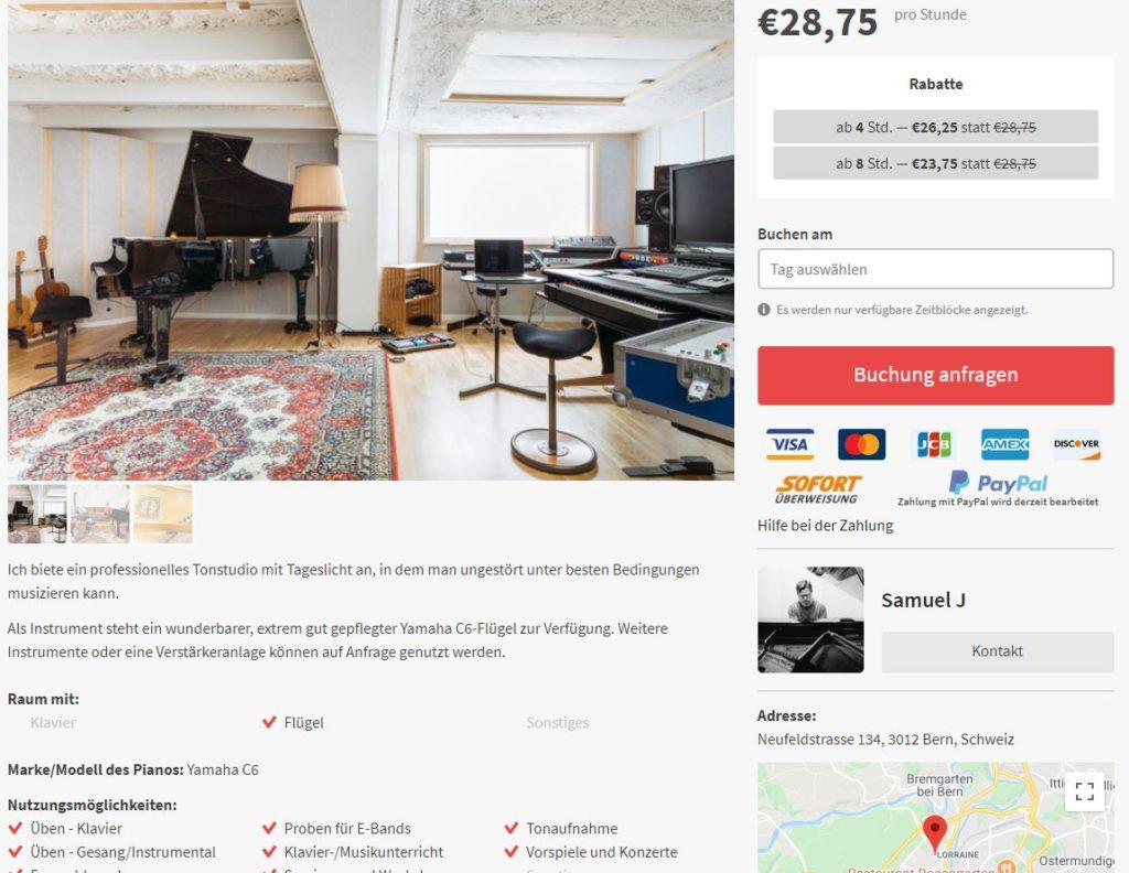 Piano.me: Finde einen Überaum in deiner Nähe