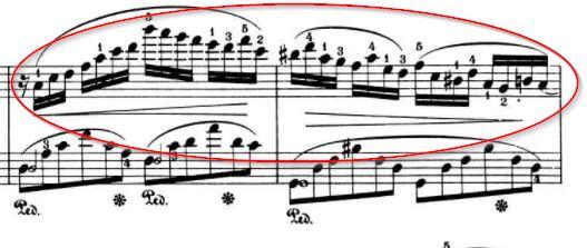 Chopin Impromptu Lauf rechts